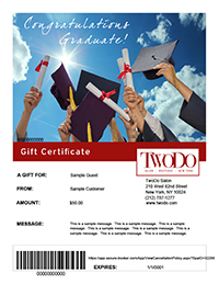 gift certificates twodo salon