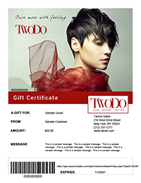 Once More With Feeling Gift Certificate